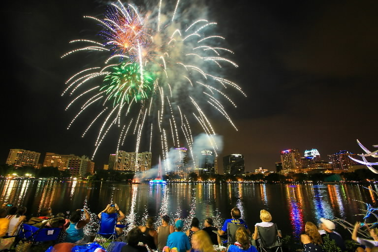 Image result for lake eola fireworks 4th of july
