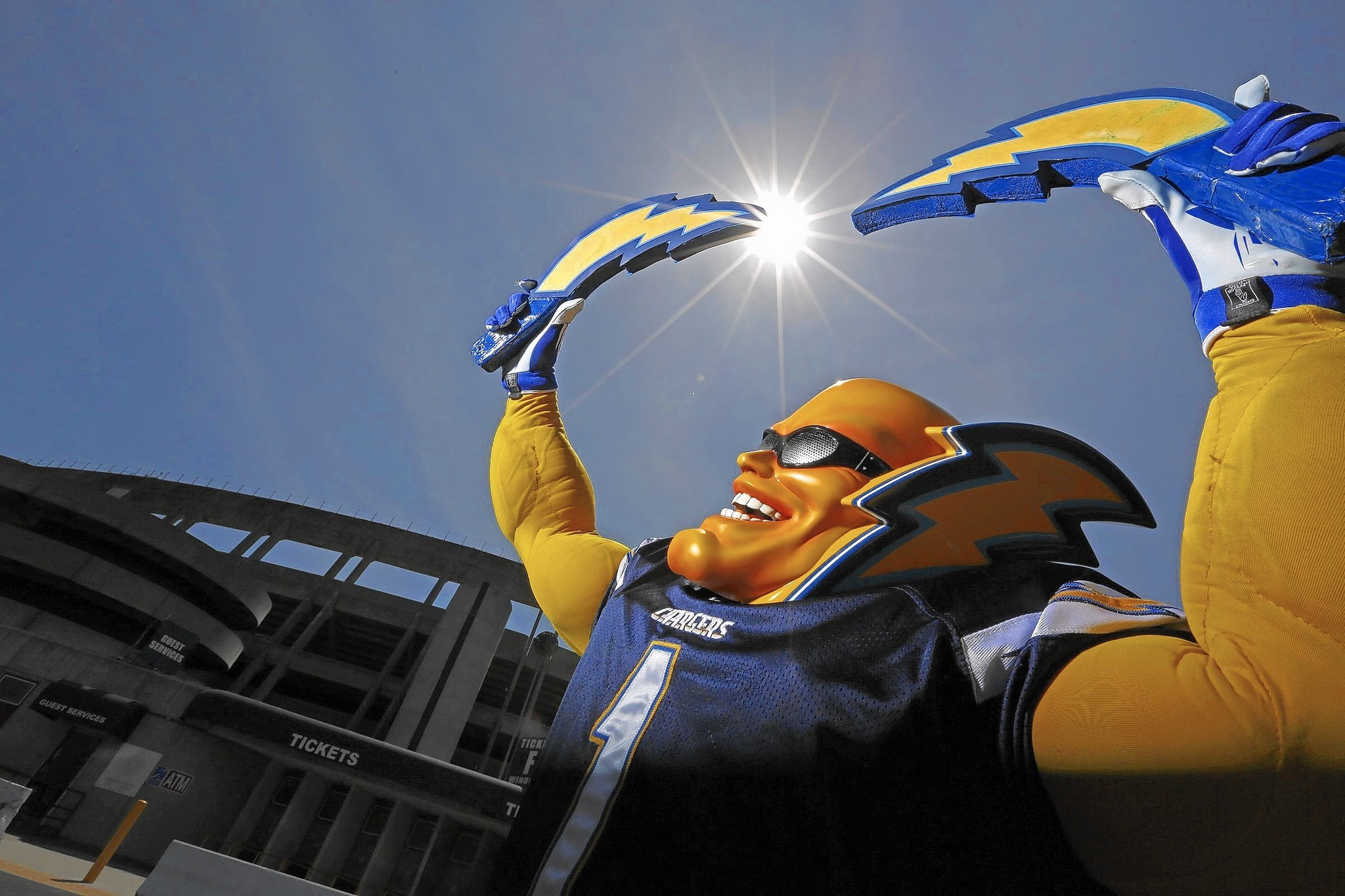Boltman The Fan Is A Lightning Rod In Chargers Relocation