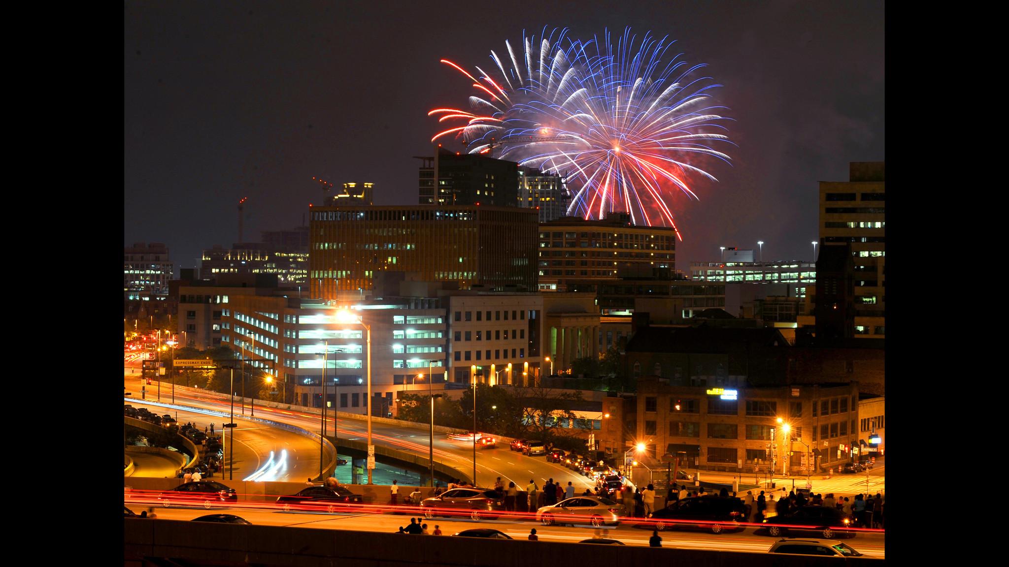 Baltimores July Th Fireworks Time Lapse Baltimore Sun