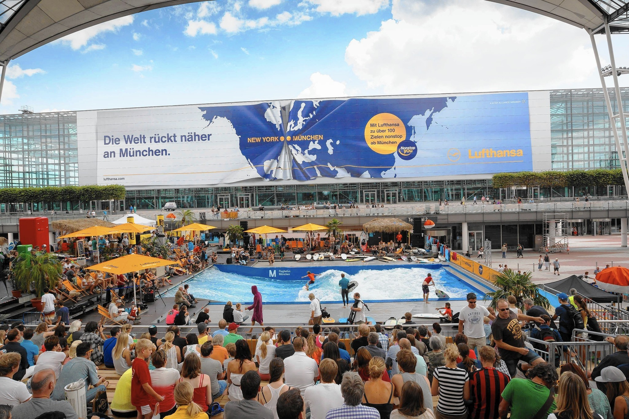 Surfing reaches championship level at the Munich airport