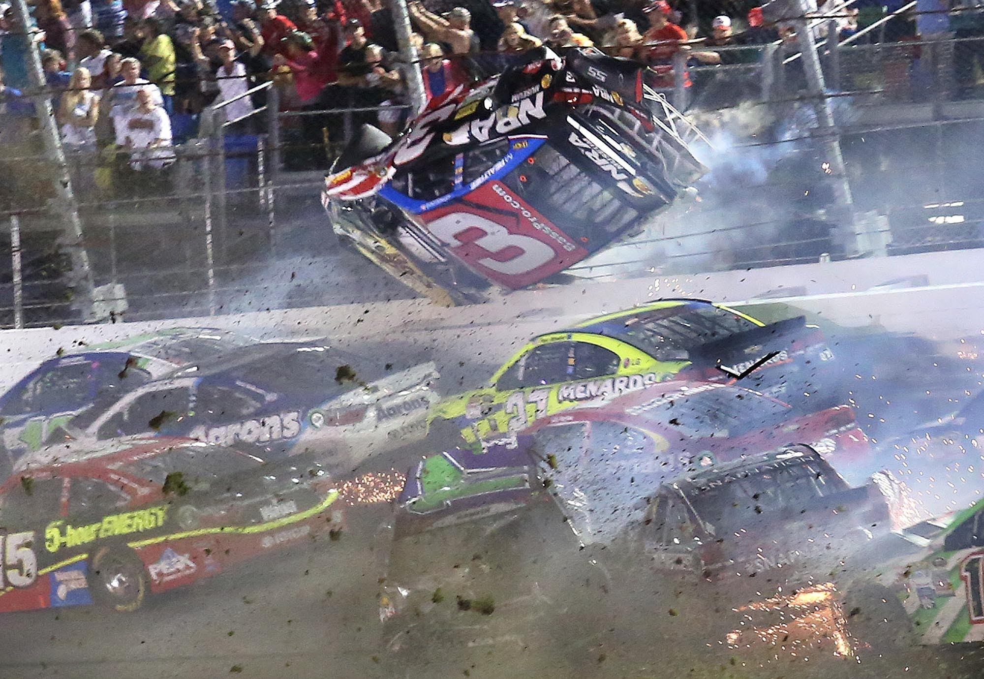 Austin Dillon crash reflects death-watch potential at NASCAR plate ...