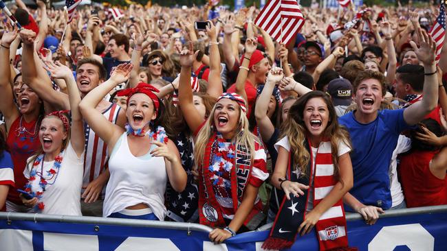 American soccer fans