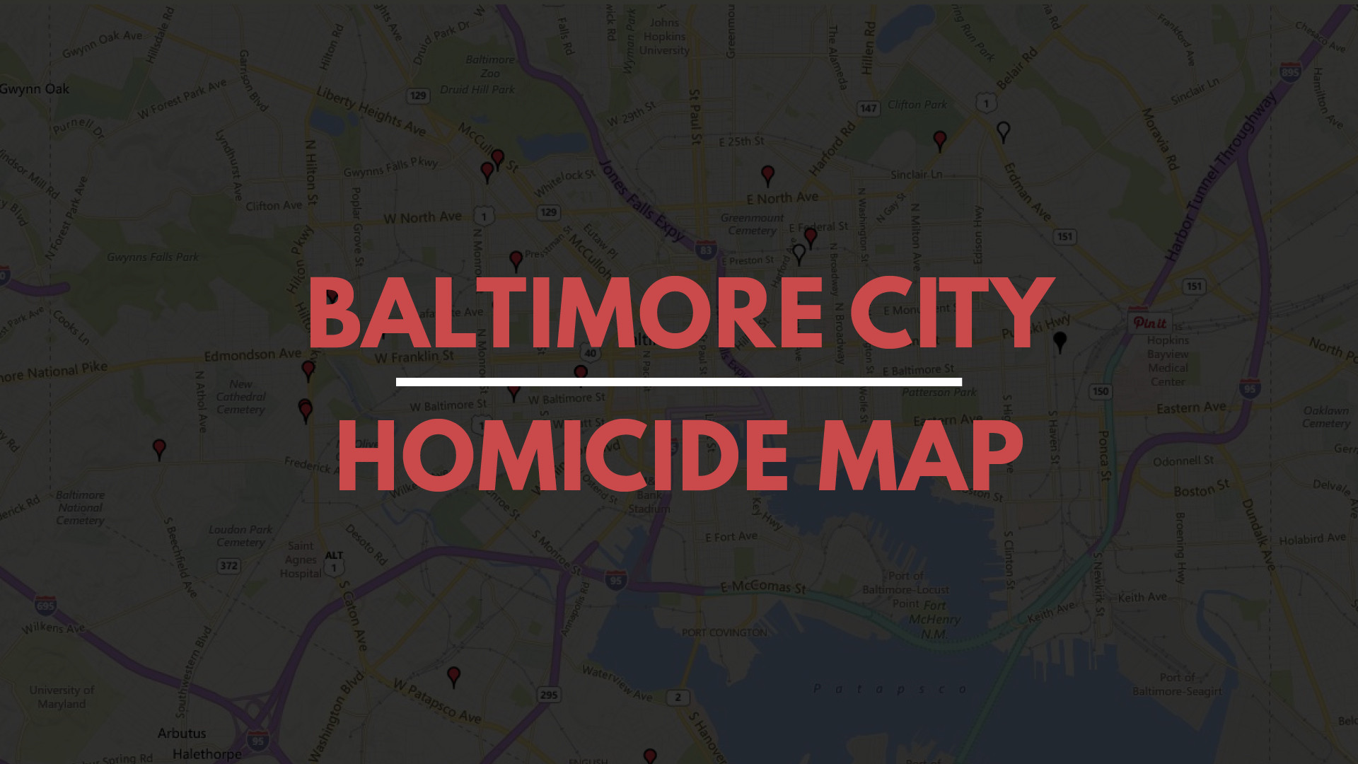 Baltimore homicides map