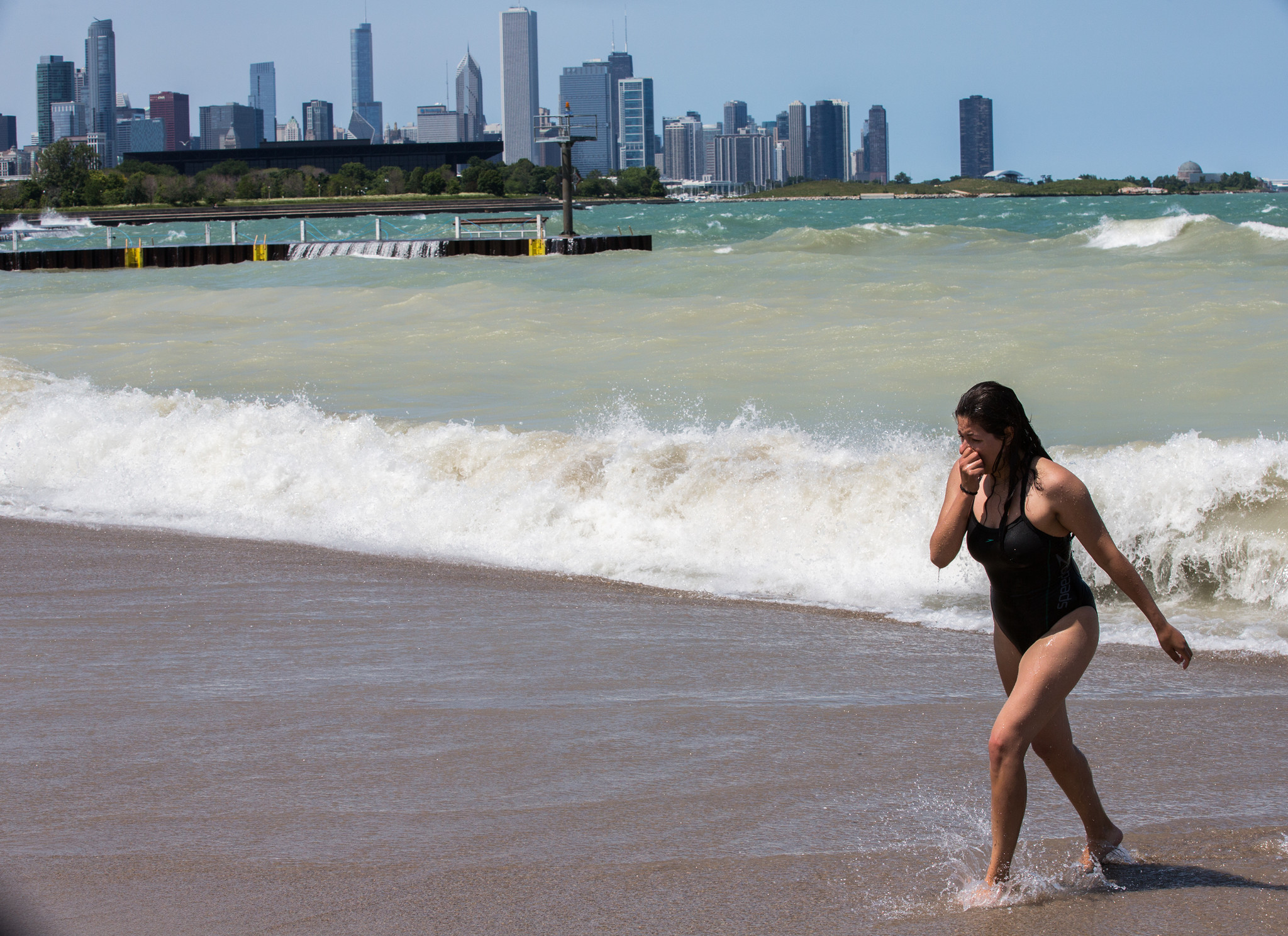 Lake Michigan water levels rising at near record rate