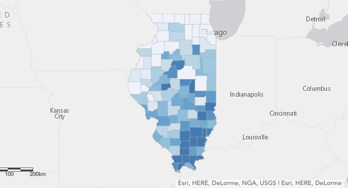 Concealed carry permits in Illinois mapped - Chicago Tribune