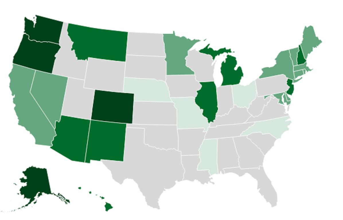 Map Statebystate Marijuana Laws Sun Sentinel - Us weed legalization map 2017