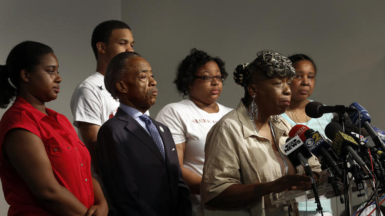 The Garner family, with Erica, far left. (Carolyn Cole / Los Angeles Times)