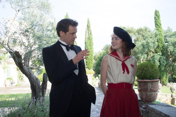 """<p>Colin Firth and Emma Stone in """"Magic in the Moonlight.""""</p>"""