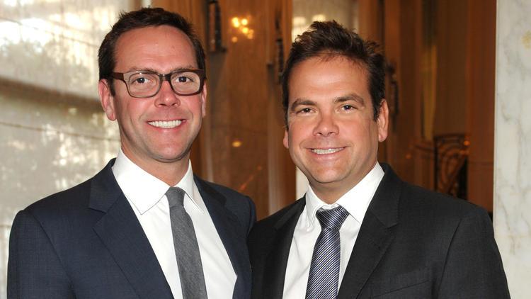 James Murdoch, left, and Lachlan Murdoch. (Frank Micelotta / Invision/AP)
