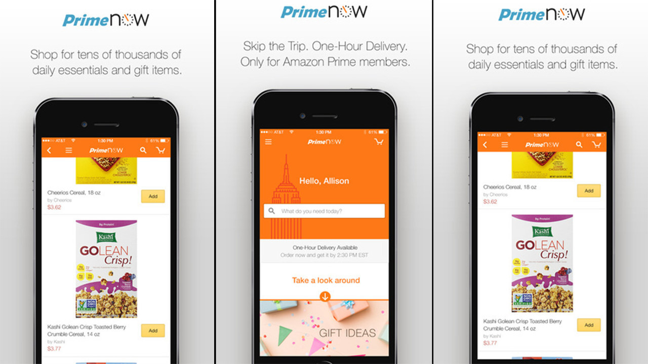 amazon prime now launches 1 and 2 hour delivery in chicago chicago tribune. Black Bedroom Furniture Sets. Home Design Ideas