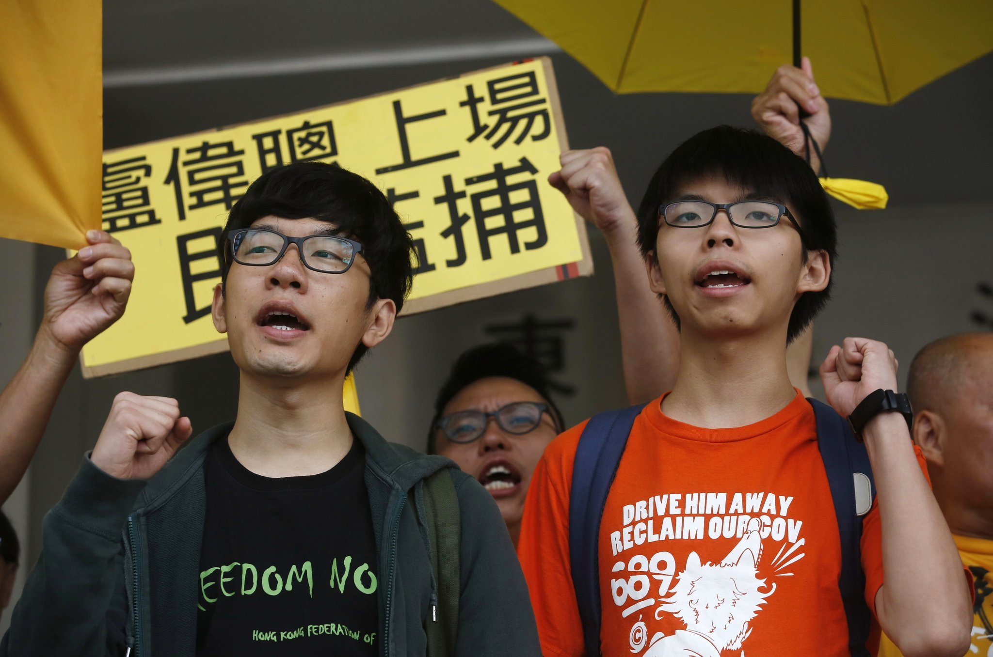 Hong Kong student leaders charged in protest from 2014