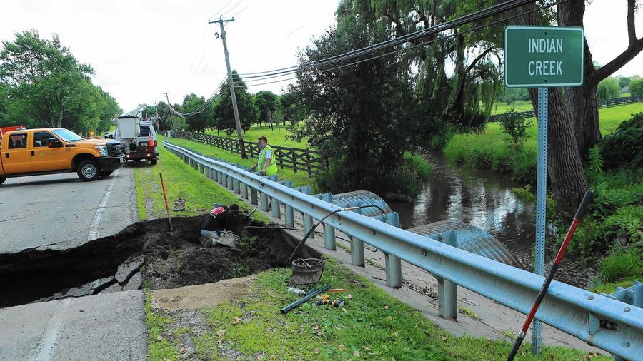 Diamond Lake Road Collapse