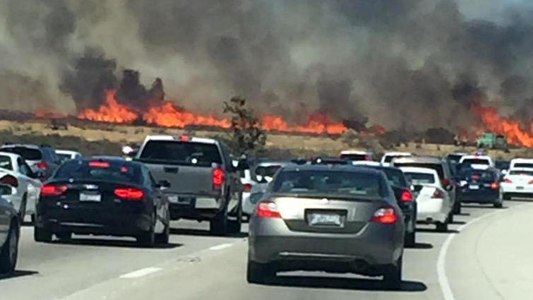 Cajon Pass fire