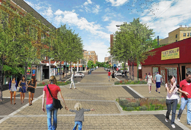 Work begins on Chicago's first 'shared street'