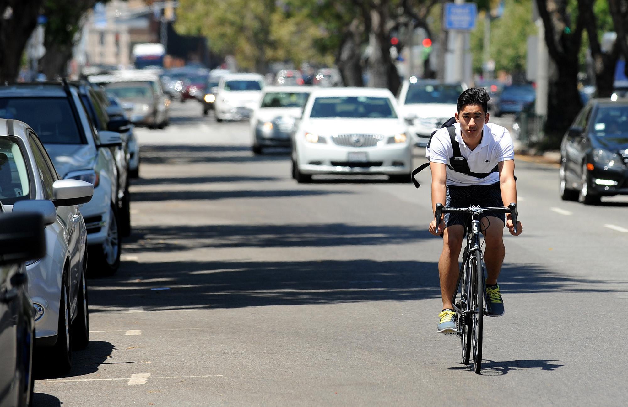Westwood bike lane proposal ignites strong feelings on both sides la times