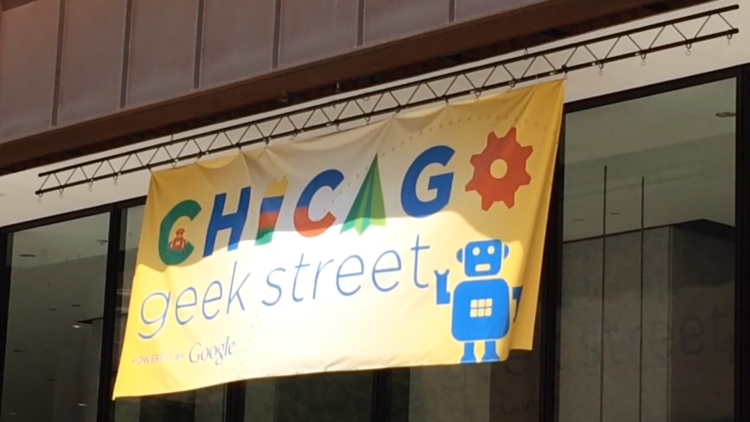 Scenes from Chicago's Google Geek Street Fair