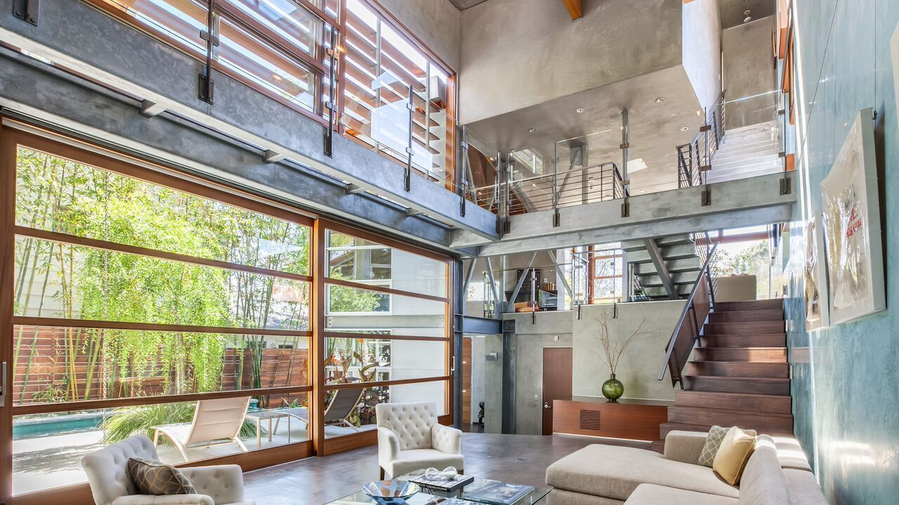 Home of the day industrial notes in santa monica canyon - Residence santa monica canyon en californie ...