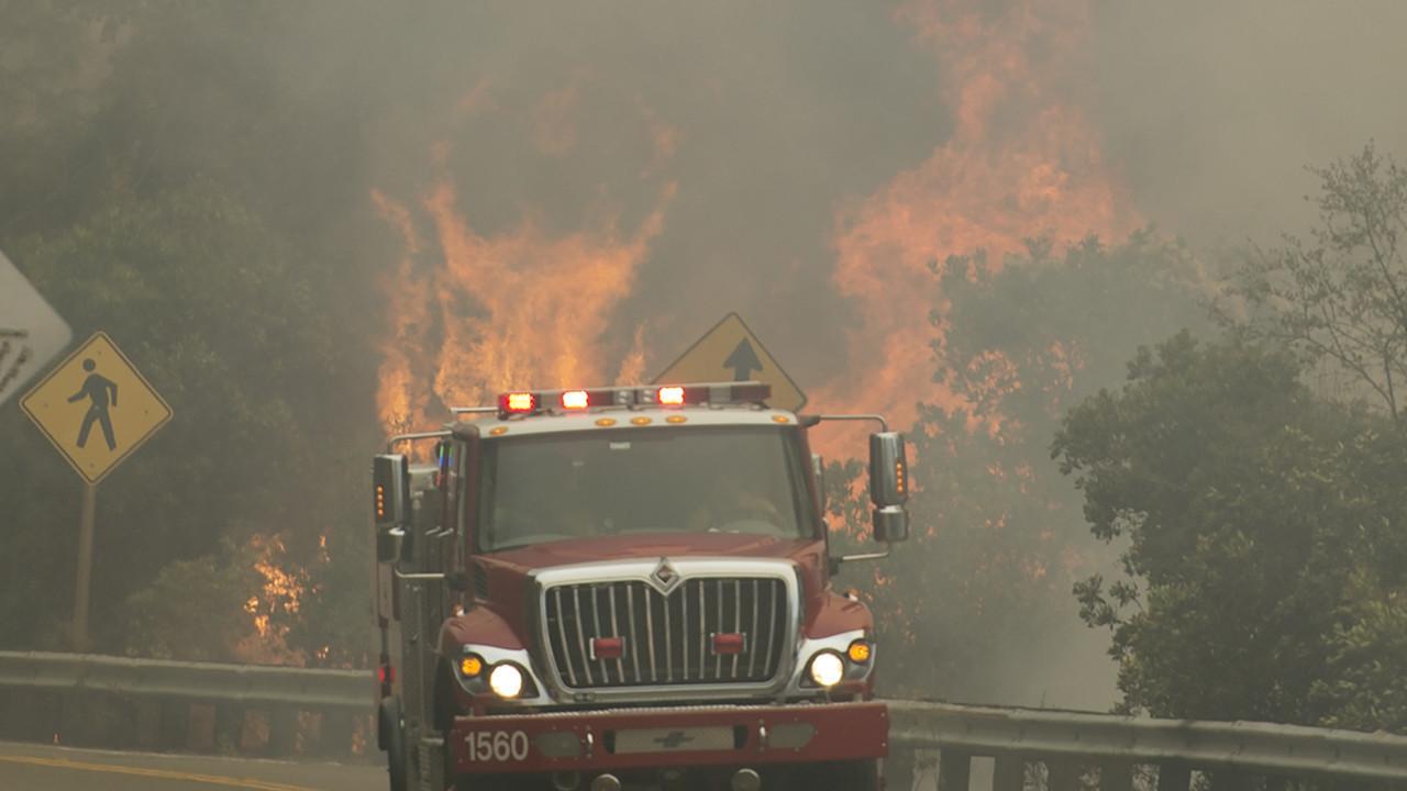Wildfire near napa valley continues to spread blaze breaks out near lake tahoe la times