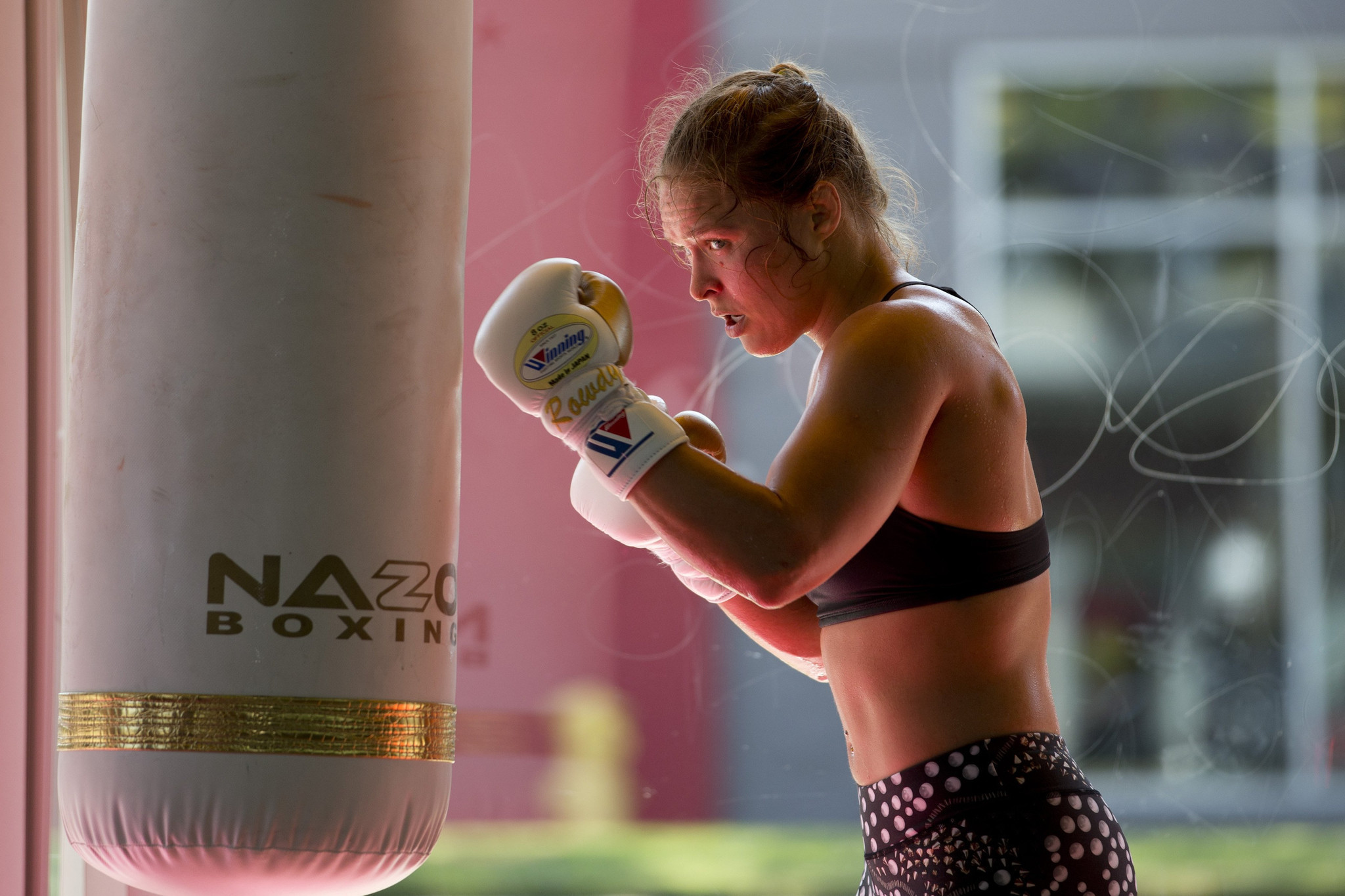 ufc u0027s ronda rousey shows she u0027s up for any challenge la times