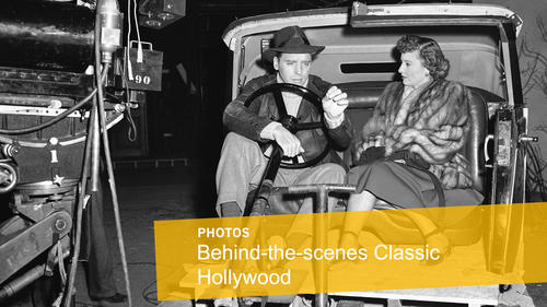 "<p>Film stars Barbara Stanwyck and Burt Lancaster relax on May 19, 1948, in an automobile interior on the set of ""Sorry, Wrong Number"" in Hollywood.</p>"