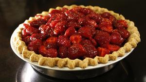 Vintage strawberry pie