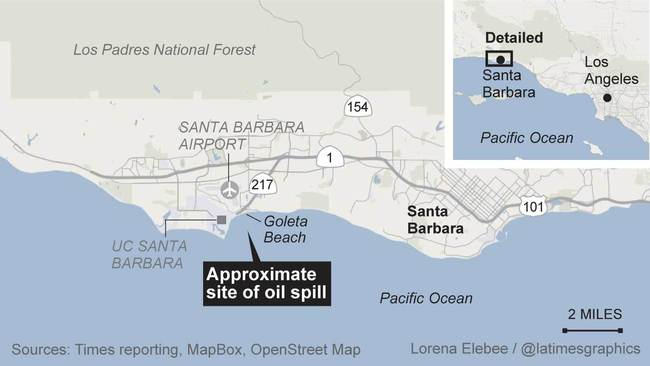 Goleta Beach oil spill