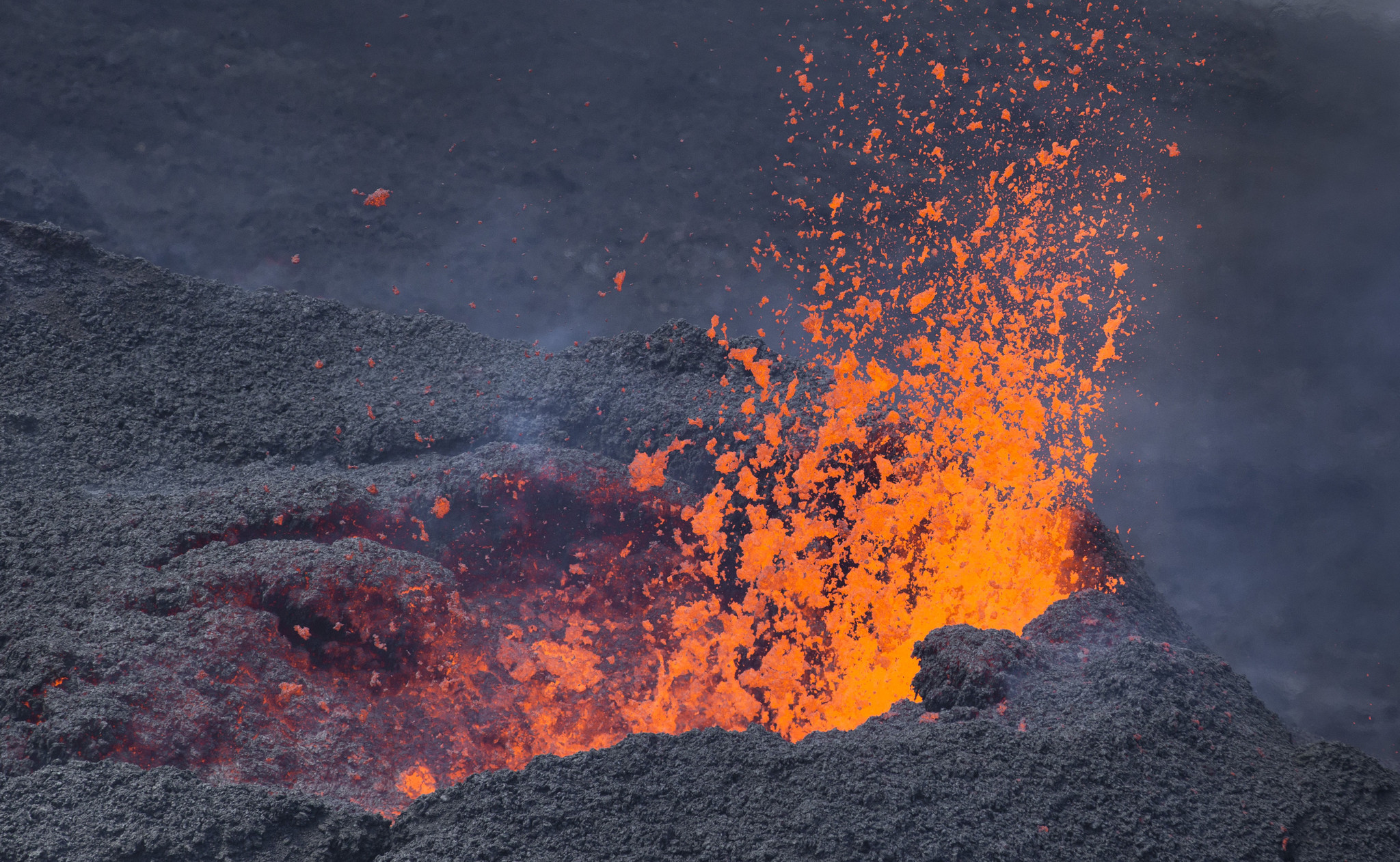 Highly active volcano erupts on Indian Ocean island amid frenzy over plane debris