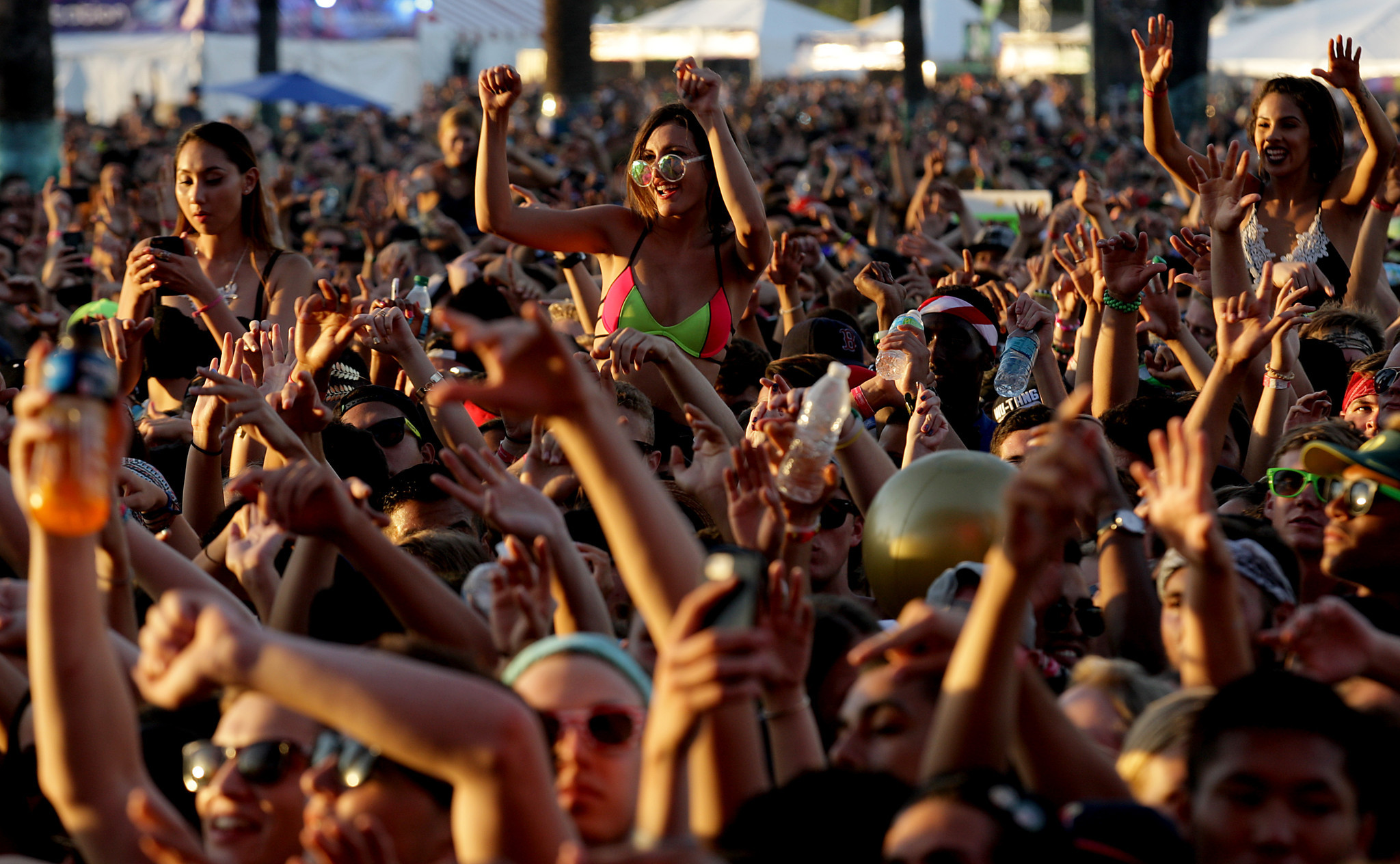 Fans at Hard Summer in 2016. (Luis Sinco / LA Times)