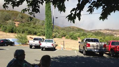16x9 - Rocky  fire  in  california us in 65000  acre  area.
