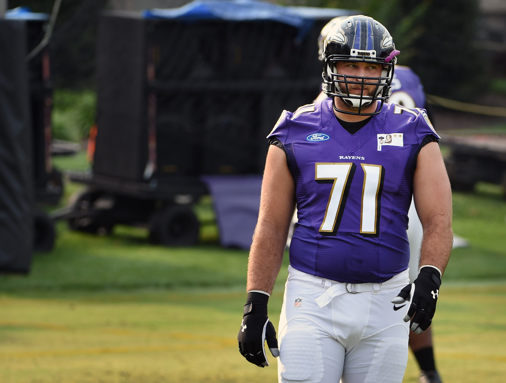 Ravens starting right tackle Rick Wagner anticipates full