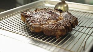 David LeFevre's rib-eye steak