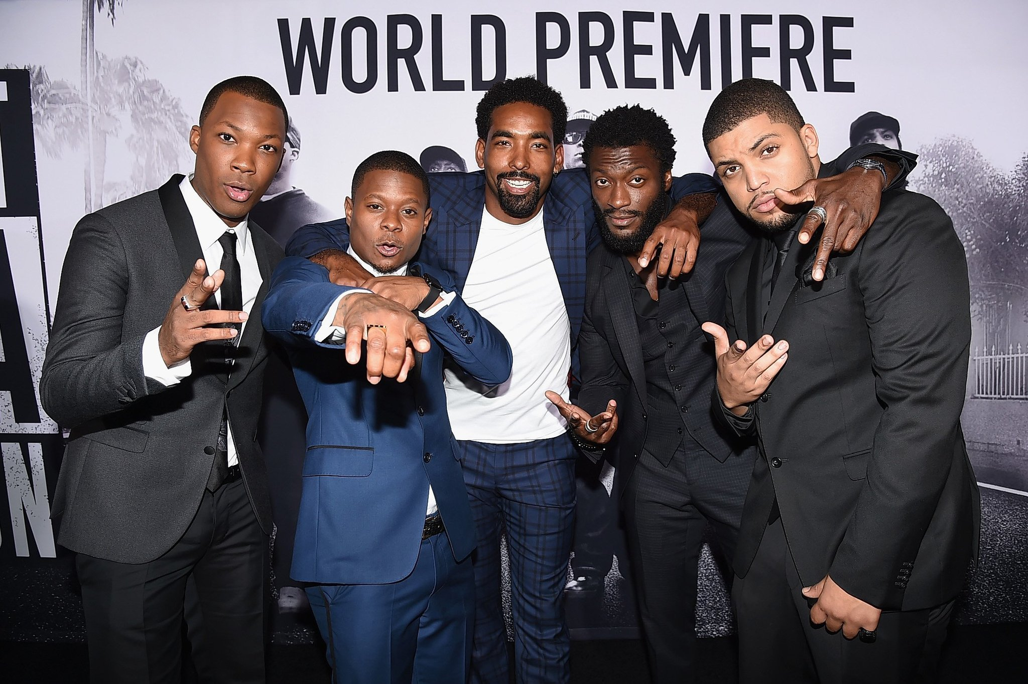 Straight outta compton tomica woods wright red carpet premiere - Director Defends Straight Outta Compton Accuracy News Entertainment