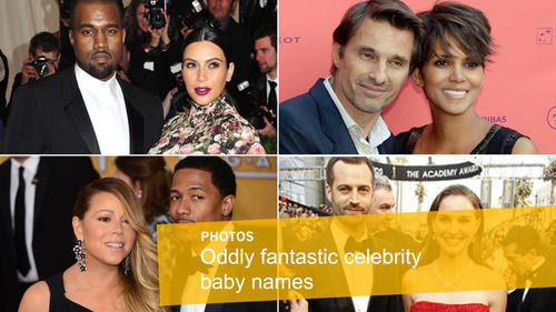 <p>Moroccan, Diva Muffin, Apple and Rainbow Aurora are just a few of the unorthodox names celebrities have chosen for their offspring. Here's a look at some of the standout -- and unusual -- monikers.</p>