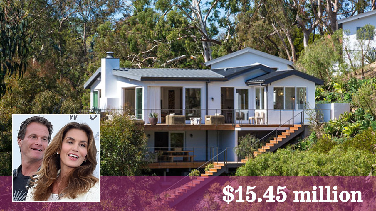 Supermodel cindy crawford gets top dollar for malibu house for Crawford house