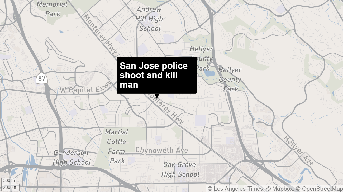 San Jose police fatally shoot 2 men in less than 24 hours who were
