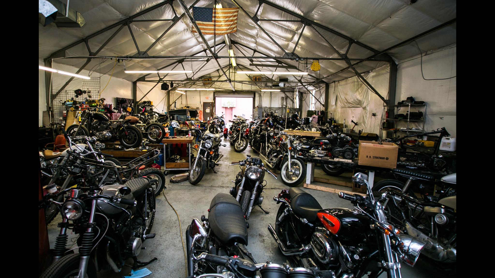 motorcycle-garage - Sunday Slacker Magazine