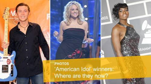 """<p>Fox has<a href=""""http://www.latimes.com/entertainment/tv/showtracker/la-et-ct-fox-ends-american-idol-in-2016-20150511-story.html"""" target=""""_blank"""">announced</a>that""""American Idol"""" will go off the air after its 15th season next spring. Here's a look back at the """"Idol"""" winners over the years and what they're up to now.</p> <p>Shown from left: Scotty McCreery, <span id=""""anonymous_element_14-info-caption"""">Carrie Underwood,Fantasia Barrino </span></p>"""