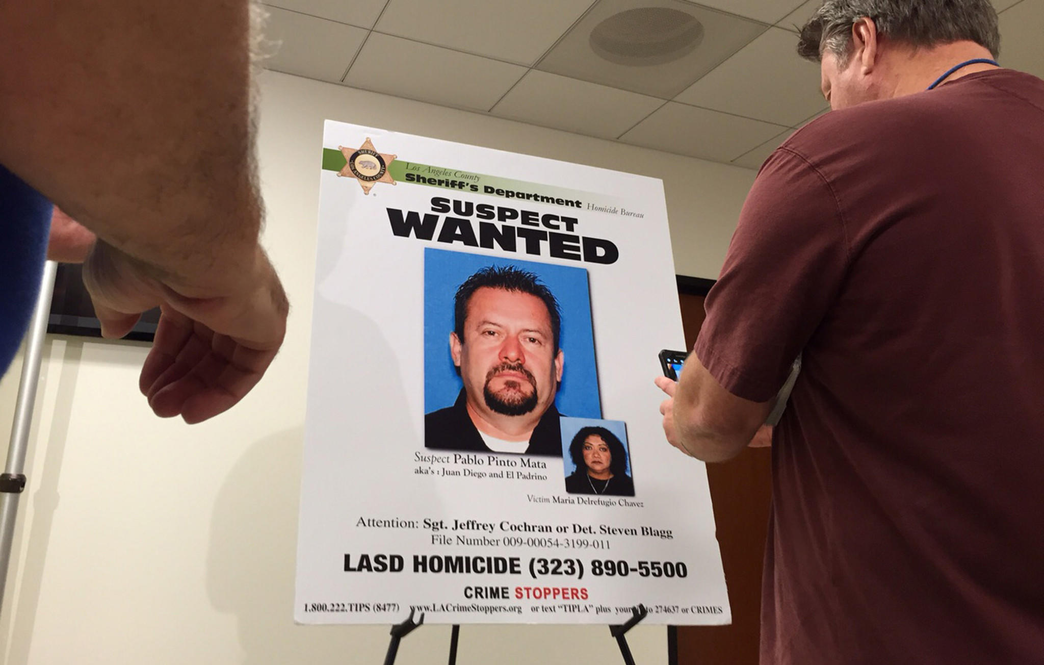 Wanted poster for Pablo Pinto Mata