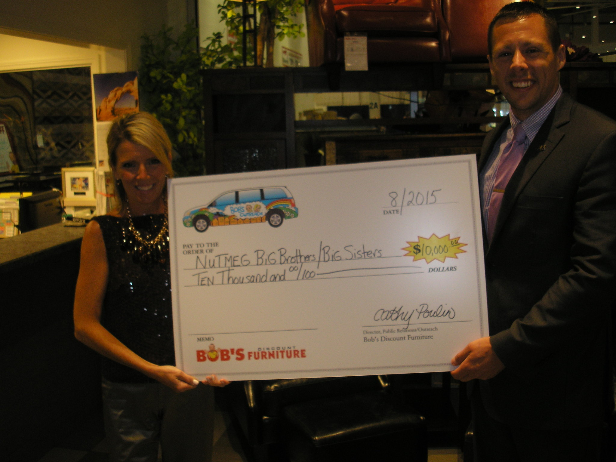 Bob 39 S Discount Furniture Charitable Foundation Donates 10 000 To Nutmeg Big Brothers Big