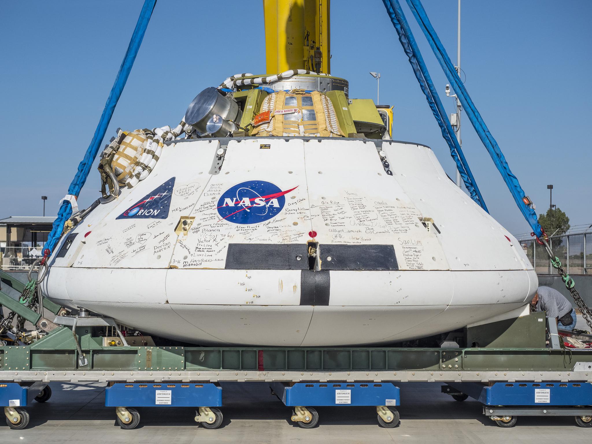 Orion spacecraft nasa