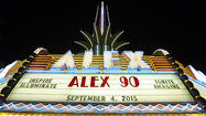 Photo Gallery: Alex Theatre spire gets LED makeover