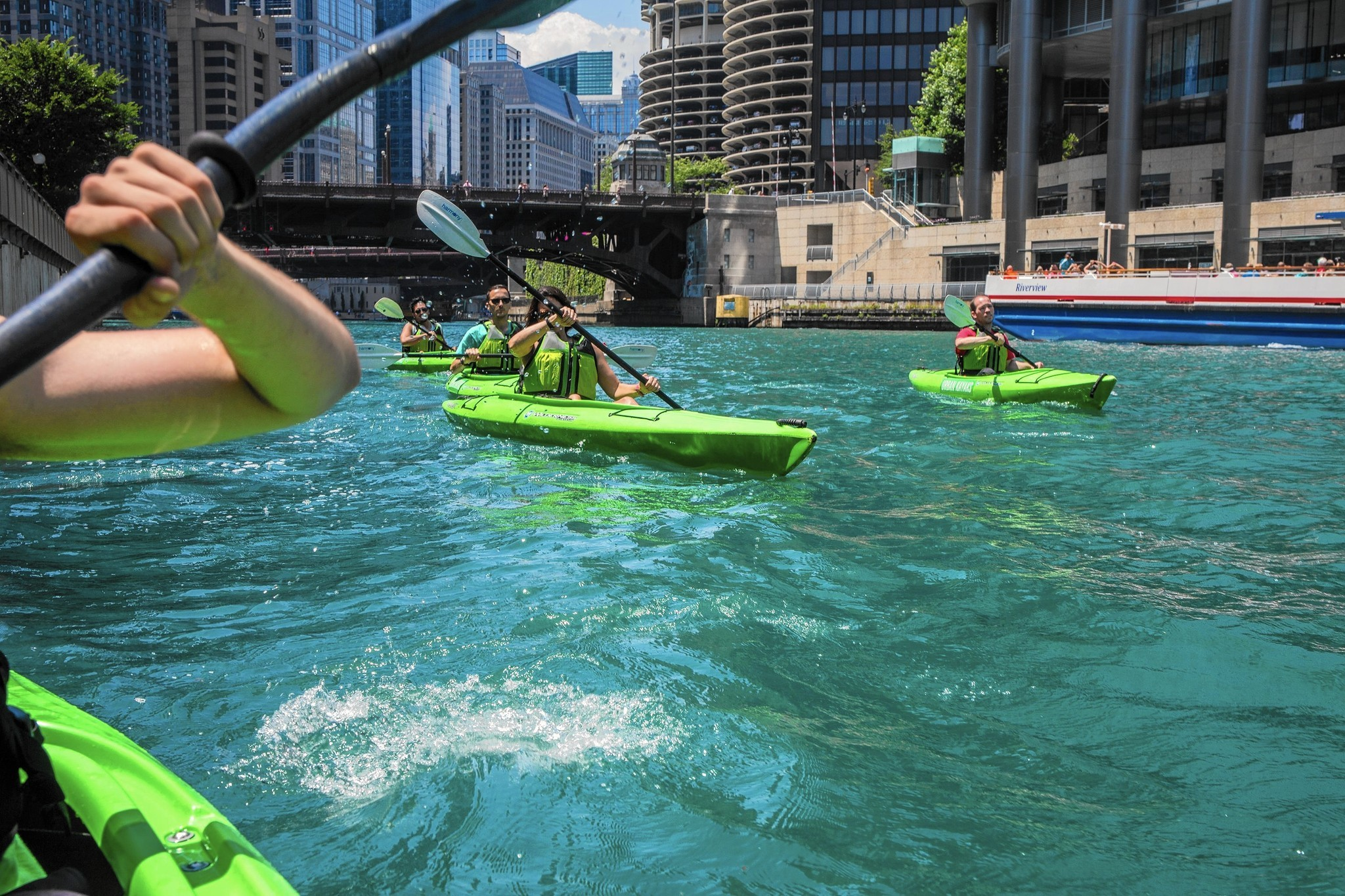 Chicago River Still Teems With Fecal Bacteria Tests Show - Chicago kayak map
