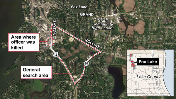 Map: Fox Lake-area shooting