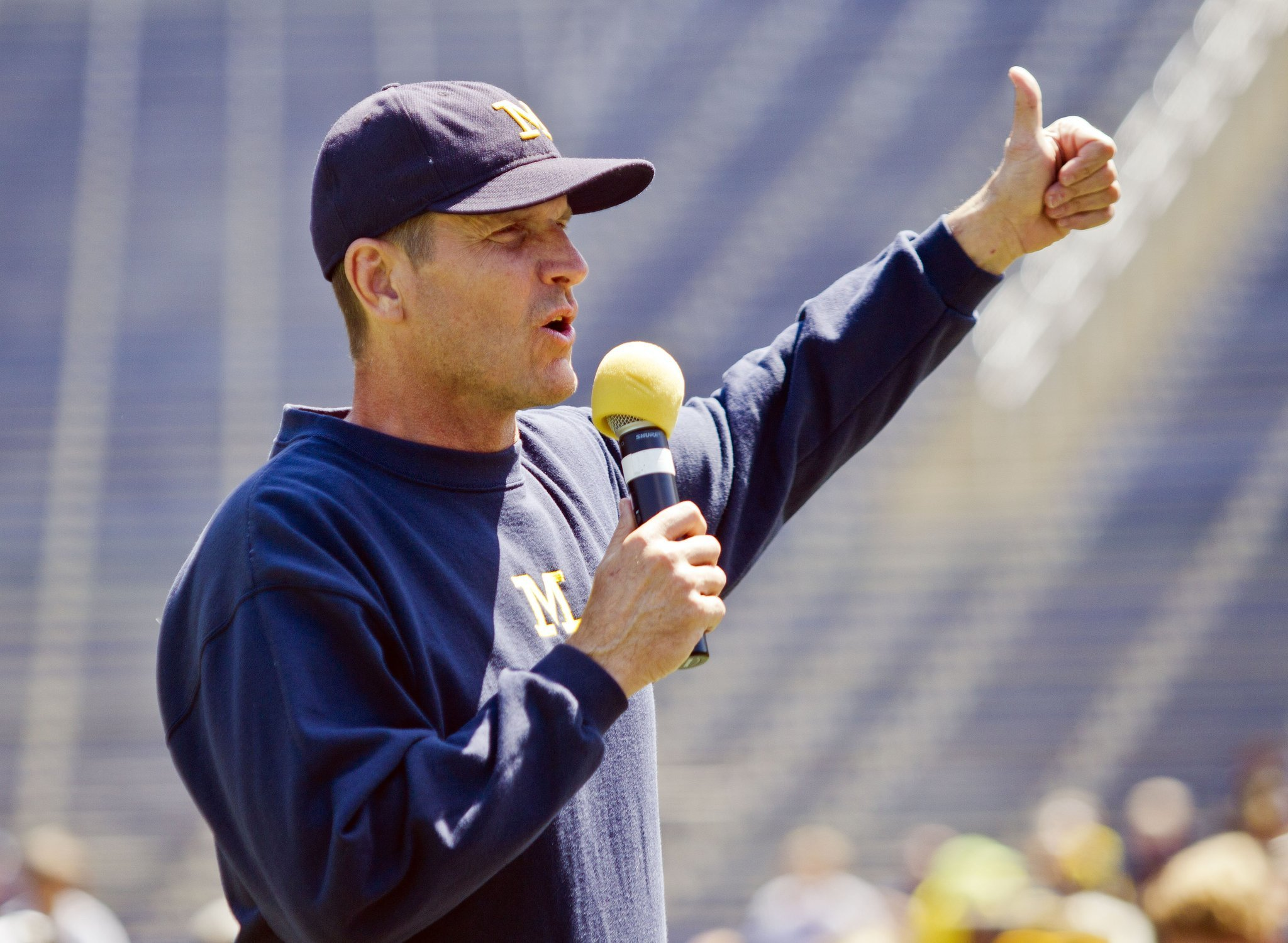 Michigan's Jim Harbaugh already has shut up, now he must put up