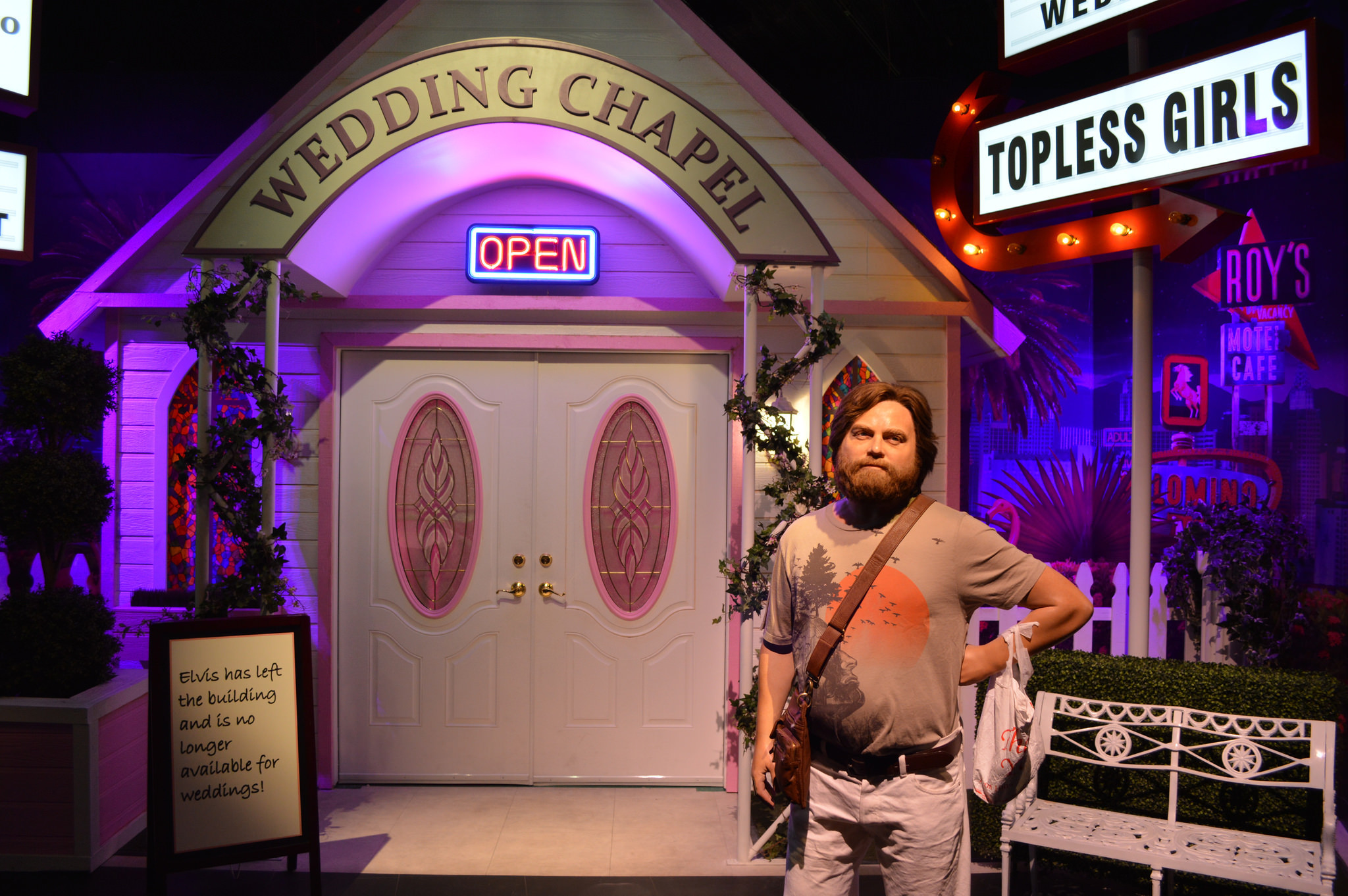 la trb las vegas hangover chapel htmlstory vegas wedding chapels do this Labor Day weekend that you ve never been able to do before Get married in the brand new Hangover wedding chapel at Madame Tussauds Las Vegas