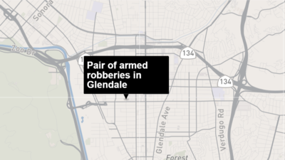 Pair of armed robberies in Glendale believed to be connected