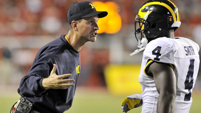 Image result for jim harbaugh michigan player