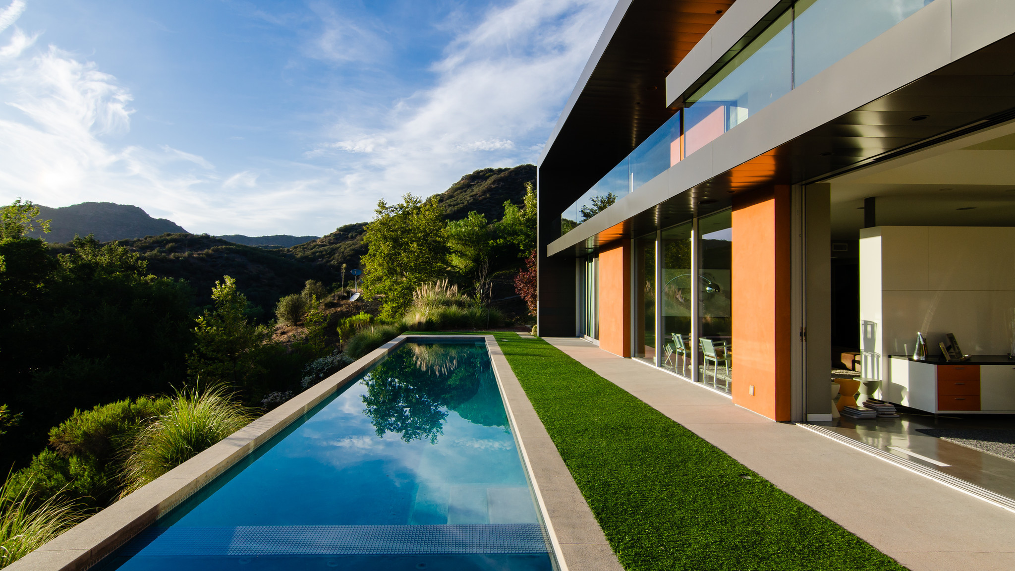 Home of the Day: modern home among the mountains in alabasas ... - ^
