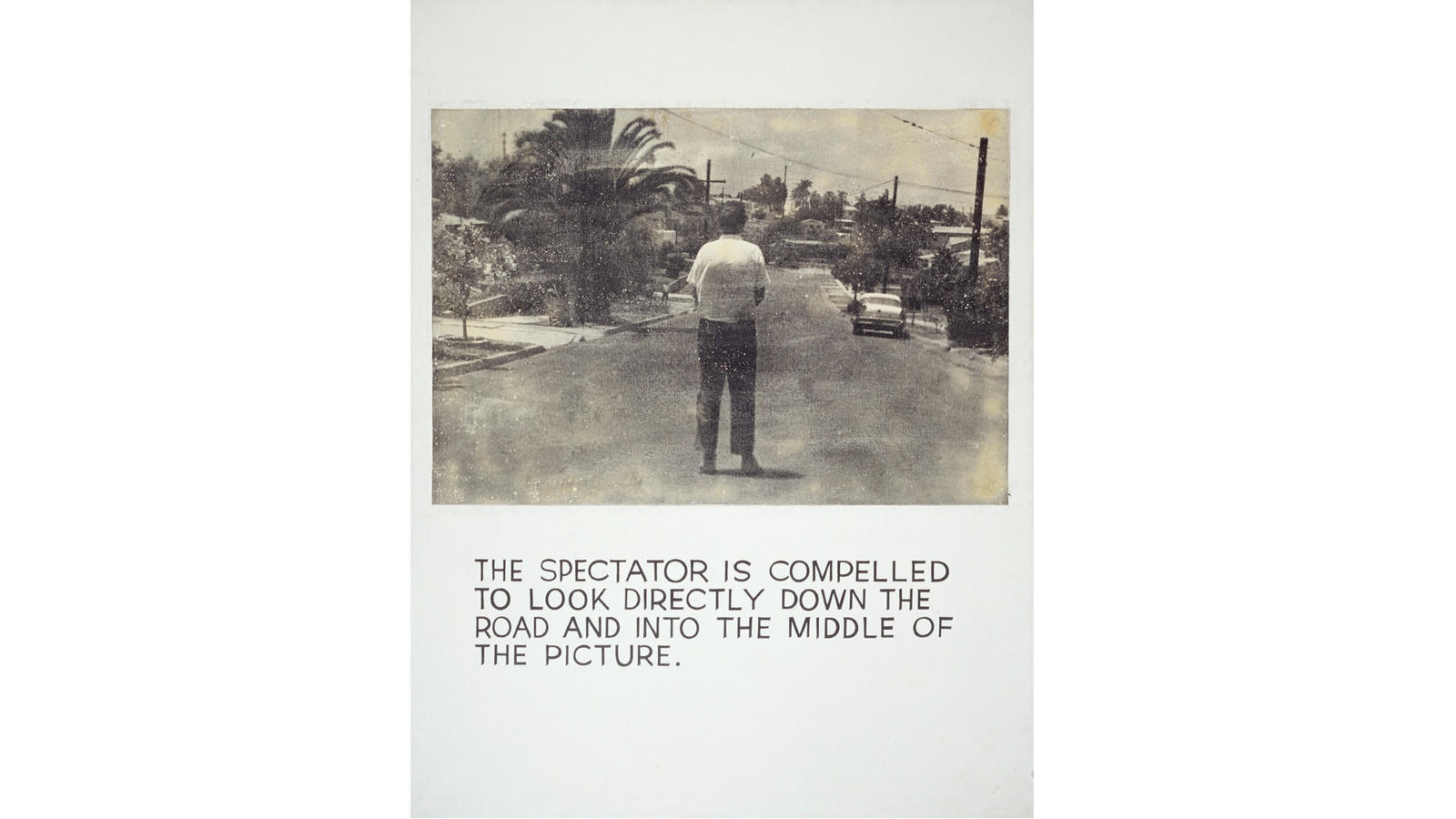 5 pieces in the broad collection that highlight pop art history john baldessari the spectator is compelled 1966 68 acrylic and photo emulsion on canvas