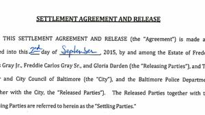 Document: Freddie Gray settlement agreement